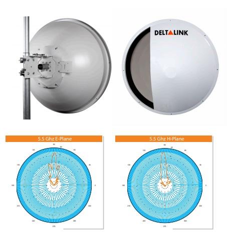 آنتن دیش 32Dbi Dual SHp دلتا لینک DeltaLink ANT-SHP5532Nدارایقدرت آنتن 32Dbi است که به صورت Dual polar کار کرده و بر روی آن دو کانکتور Ntype Female تعبیه شده است تا بتوان به تجهیزات متصل نمود . فرکانس کاری این آنتن 4800 – 6100 MHz می باشد و انواع رادیوهای موجود در بازار را می توان به آن متصل نمود . زاویه دید این آنتن به میزان 4 درجه بوده و به دقت بالایی در نصب این آنتن برای ارتباطات نقطه به نقطه نیاز دارد این دیش به طور خالص از آلومینیوم ساخته شده و پایه های نگهدارنده نسبتا مناسبی برای آن طراحی شده است به طوری که در فضاهایی که دارای وزش باد زیاد است دوام خواهد آورد .