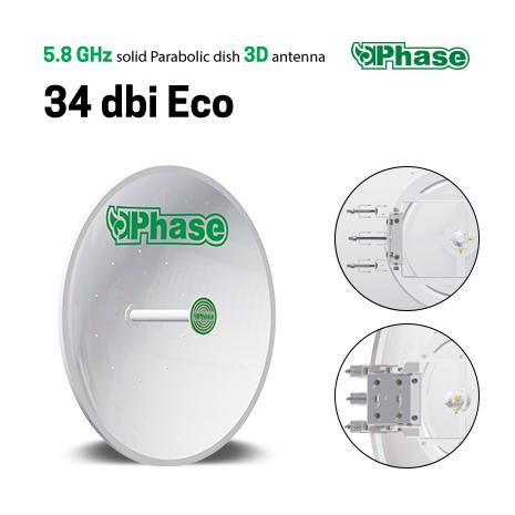آنتن دیش 34Dbi فاز اکونومی Phase 34dBi Ecoیکی از محصولات نوآورانه ی شرکت فاز می باشد که به جهت ارتباطات نقطه به نقطه در فواصل دور طراحی شده است و تنها تفاوتی که با مدل Easy خود دارد در طراحی پایه نگهدارنده می باشد