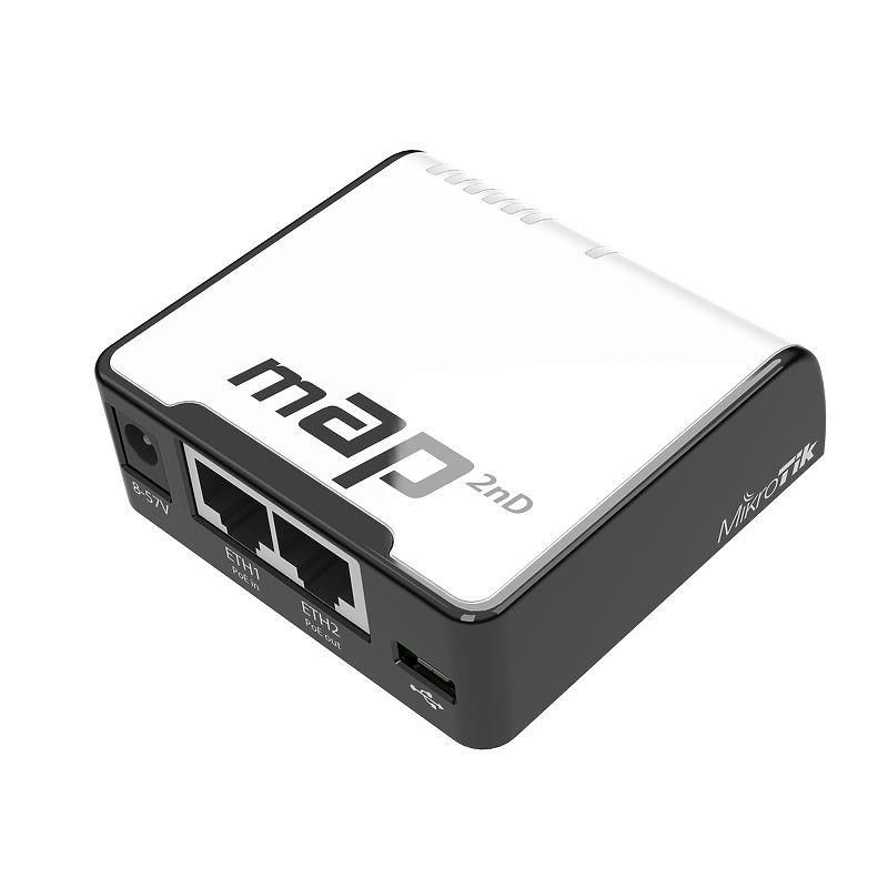 اکسس پوینت روتر میکروتیک Mikrotik mAP با نام فنیRBmAP2nD یکی از محصولات بسیار کوچک اما کاربردی میکروتیک می باشد که بعد از آشنایی با آن شما را متعجب خواهد کرد .mAP را می توان برادر mAP lite دانست از این رو که در طراحی و ابعاد و ظاهر با یکدیگر برابر هستند اما این روتر کوچک امکانات بیشتری نسبت به برادر خود در اختیار شما قرار خواهد داد . با افزار نت همراه باشید برای بررسی بهترMikrotik mAP .