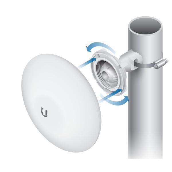 رادیو نانوبیم یوبیکیوتی UbiQuiti NanoBeam 16Dbi NBE-M5-16از دیگر از محصولات شرکت یوبیکوییتی می باشد که برای ارتباطات نقطه به نقطه تا فاصله 8 کیلومتر طراحی شده است .