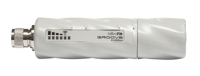 رادیو وایرلس میکروتیک Mikrotik Groove 52 ac یکی از محصولات میکروتیک که در خانواده Groove می باشد که تنها شاخص خاص آن استفاده از استاندارد وایرلس 802.11AC می باشد که امکان بهره وری از عرض باند 80MHZ را به شما می دهد . این رادیو هم مانند Groove 52 بدون آنتن طراحی شده که دارای یک کانکتور Ntype می باشد که می توانید بسته به نوع نیاز خود آنتن مناسب را برای آن انتخاب نمائید . با افزار نت همراه باشید برای بررسی بهترGroove 52 ac .