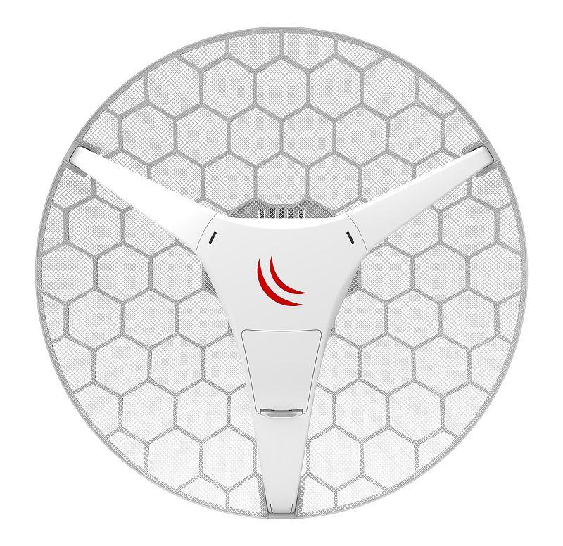 رادیو وایرلس میکروتیک Mikrotik LHG 5 ac با نام فنیRBLHGG-5acD یکی دیگر از محصولات خانواده LHG که به توانایی استفاده از استاندارد 802.11AC را دارد . این محصول دارای لایسنس سطح 3 میکروتیک است که می توانید از آن به عنوانCPE/Point-to-Point استفاده نمائید . لازم به ذکر است این رادیو از پروتکلNv2 TDMA نیز استفاده می نماید که برای فواصل دور امکان انتقال اطلاعات با حجم بیشتری را به شما می دهد . با افزار نت همراه باشید برای بررسی بهترLHG 5 ac .