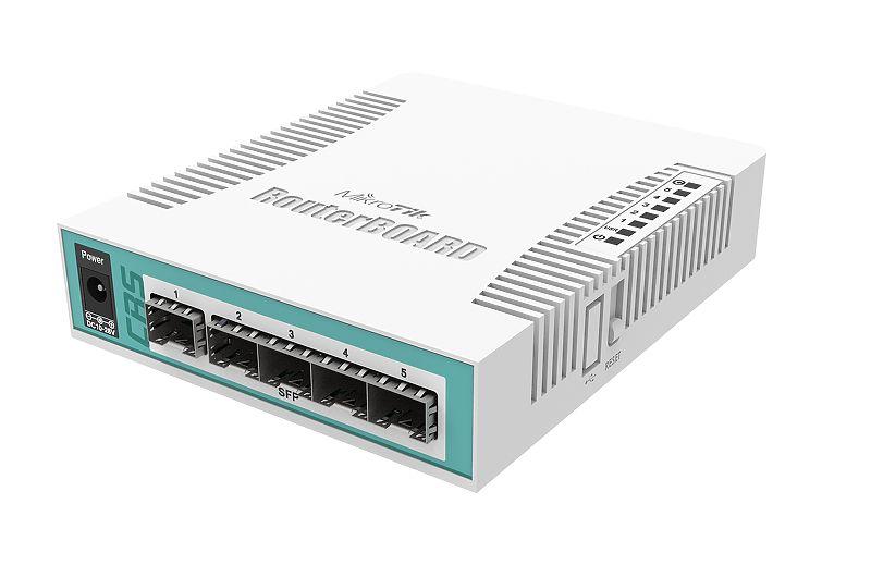 روتر سوئیچ میکروتیک Mikrotik CRS106-1C-5S یکی دیگر از محصولات میکروتیک است که کمترین برندی در دنیا اقدام به تولید چنین محصولاتی نموده است . تلفیق روتر و سوئیچ با یکدیگر که در بسیاری از پروژه ها با داشتن هر دو توانایی راهکارهای خاصی را به شما ارائه می دهد . CRS از واژه Cloud Router Switch برگفته شده است . دارا بودن نوع خاصی از پورتهای مورد نیاز بسیاری از کاربران را ترغیب کرده است که از محصولات میکروتیک استفاده کنند . با افزار نت همراه باشید برای بررسی بیشترCRS106-1C-5S .