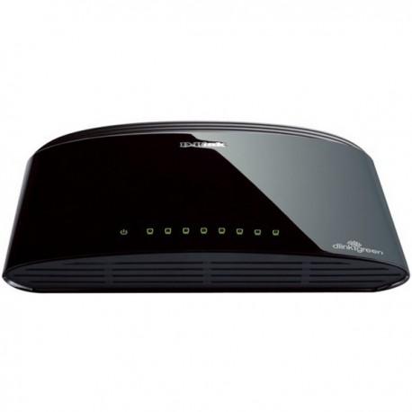 سوئیچ شبکه 8 پورت دی لینک D-link DES-1008Dدارای 8 پورت اترنت 10/100 به همراه چراغهای نمایشگر وضعیت پورتها بر روی خود است و جزو محصولات پرطرفدار دی لینک می باشد . از این محصول می توانید برای انجام کارهای کوچک با حجم تبادل اطلاعات پایین استفاده نمائید .
