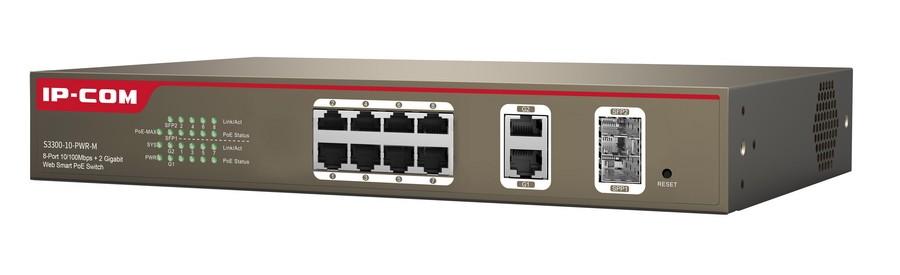 سوئیچ 10 پورت هوشمند POE آی پی کام IP-COM S3300-10-PWR-Mیکی دیگر از محصولات آی پی کام است که جزو رده ی هوشمند یا Web Smart است