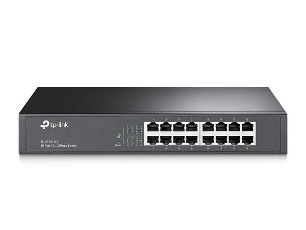 سوئیچ 16 پورت دسکتاپ و رکمونت تی پی لینک Tp-Link TL-SF1016DS یکی دیگر از محصولات تی پی لینک است و دارای 16 پورت اترنت 10/100 با قابلیت قرار گیری به صورت رکمونت و دسکتاپ به همراه چراغهای نمایشگر وضعیت پورتها بر روی خود است . این سوئیچ ازقابلیت MDI/MDIX وIEEE 802.3x flow control که همان قابلیتانتقال قابل اطمینان دیتا است پشتیبانی نموده و لازم به ذکر است که این محصول از با بهره وری از Green Ethernet قابلیت صرفه جویی در انرژی تا میزان 75% را در بر خواهد داشت .