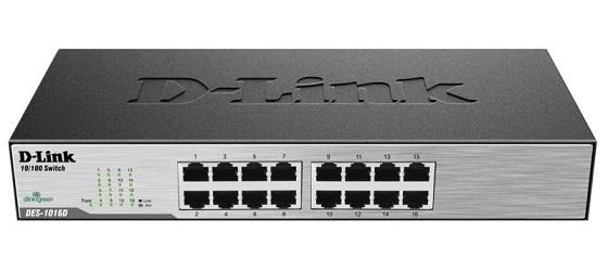 سوئیچ 16 پورت دی لینک D-link DES-1016Dدارای 16 پورت اترنت 10/100 و نمایشگر وضعیت پورتها بر روی خود است و جزو محصولات بسیار ارزان دی لینک می باشد . از این محصول می توانید برای انجام کارهای کوچک با حجم تبادل اطلاعات پایین استفاده نمائید .