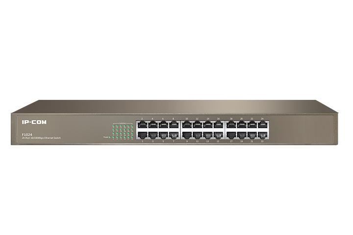 سوئیچ 24 پورت رکمونت آی پی کام IP-COM F1024یکی دیگر از محصولات آی پی کام است و دارای 24 پورت اترنت 10/100 با قابلیت