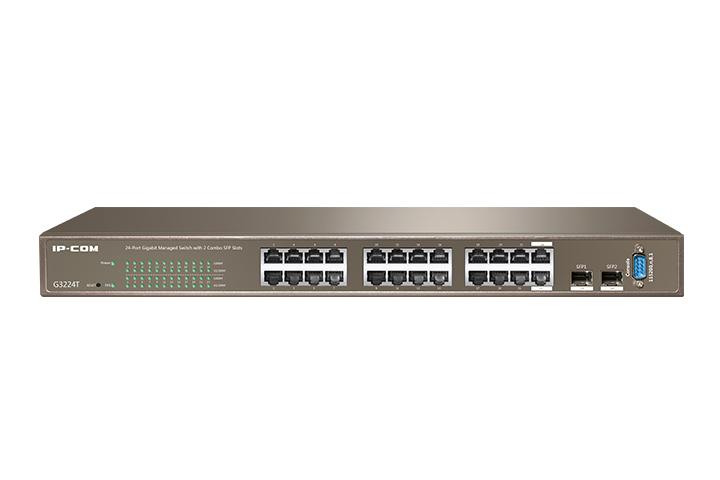 سوئیچ 24 پورت گیگ هوشمند آی پی کام IP-COM G3224Tیکی دیگر از محصولات آی پی کام است که جزو رده ی هوشمند یا Web Smart است