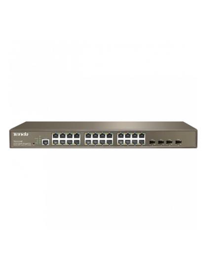 سوئیچ 24 پورت POE مدیریتی تندا Tenda TEG3224P یکی از سوئیچ های مدیریتیتندا است و دارای 24 پورت گیگ و 4 پورت Combo می باشد که 24 پورت آن توانایی POE Out