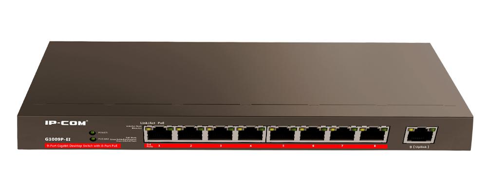 خرید سوئیچ 9 پورت POE آی پی کام IP-Com G1009P-EI