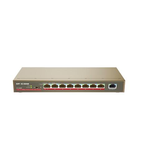 سوئیچ 9 پورت POE آی پی کام IP-Com F1109P از دیگر محصولات این کمپانی می باشد که جزو سوئیچ های غیر مدیریتی بوده و دارای 9 پورت 10/100 است که تعداد 8 پورت آن قابلیت POE OUT را داشته و از استانداردIEEE 802.3af/at نیز پیروی می کند . توان کل این سوئیچ 115Wبوده و می تواند برای هر پورت تا میزان 40W قدرت تامین نماید . با افزار نت همراه باشید برای بررسی بهترIP-Com F1105P-4-63W .