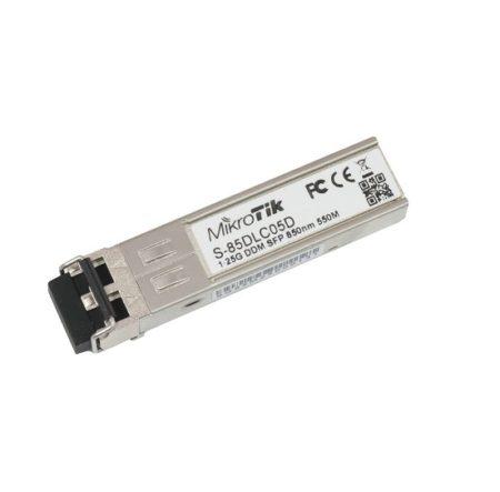 ماژول فیبر مالتی مد میکروتیک Mikrotik S-85DLC05D دارای دو کانکتورDual LC UPC و توانایی تبادل اطلاعات تا سرعت1.25G را در اختیار شما قرار می دهد . طول موج