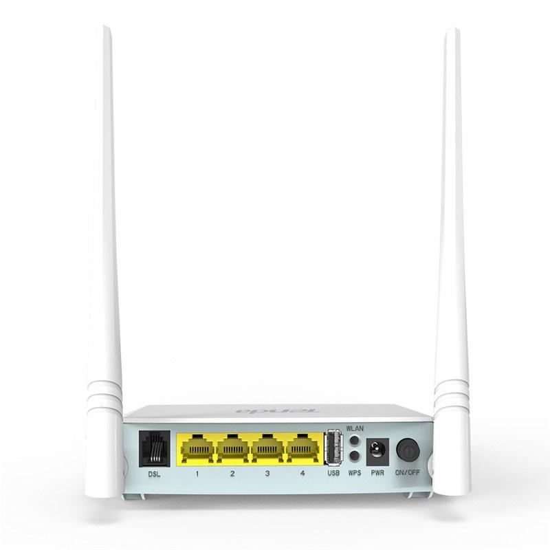 مودم ADSL تندا 4 پورت 2 آنتن Tenda D301v2 از محصولات محبوب تندا می باشد و دارای 4 پورت اترنت به همراه 2 آنتن 5Dbi با فابلیت کارکرد در فرکانس 2.4 Ghz می باشد که توان تبادل اطلاعات تا 300Mbps را فراهم می سازد . این محصول از یک پورت USB به جهت اتصال به USB و یا Hard به جهت اشتراک گذاری در شبکه نیز بهره می برد . در این مودم ترکیبی از مودم ، روتر و وایرلس وجود دارد که تقریبا تمام نیازهای شما را برطرف خواهد ساخت . وجود امکانات مدیریتی ، کیفیت ساخت مطلوب و قیمت مناسب به محبوبیت این محصول افزوده است . با افزار نت همراه باشید برای بررسی دقیق ترD301v2 .