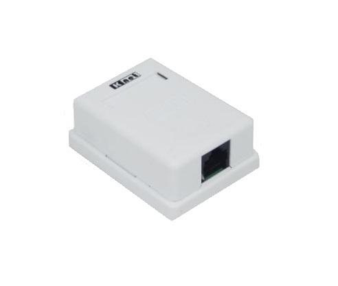 پریز شبکه رو کار Cat5e کی نت K-net Keyston Cat5eیکی از محصولات کی نت می باشد که برای اماکنی طراحی شده است که جهت کابل کشی رو کار خود نیاز به قاب پریز روکار داشته تا ادوات تحت شبکه کابلی خود را به آنها متصل نمایند . این محصول را می توان با چسب دو طرفه و یا پیچ و رولپلاک بر روی دیوار و سطوح مورد نظر خود نصب نمود و از آن استفاده کرد .