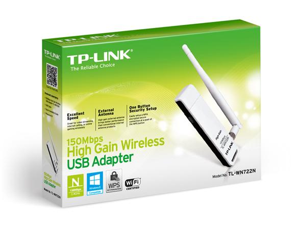 کارت شبکه وایرلس USB تی پی لینک Tp-Link TL-WN722N N150 این USB وایرلس توانایی کارکرد در فرکانس 2.4 Ghz را دارا می باشد و می تواند تا 150Mbps را در استاندارد 802.11N تبادل نماید .
