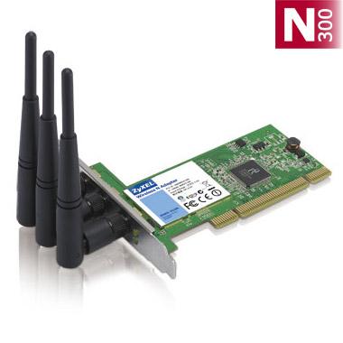کارت شبکه PCI زایکسل Zyxel NWD310N N300یکی دیگر از محصولات کمپانی زایکسل است که به صورت PCI طراحی شده و بر روی اسلات های مادر برد قرار می گیرد . این کارت شبکه قابلیت کارکرد در فرکانس 2.4 GHZ