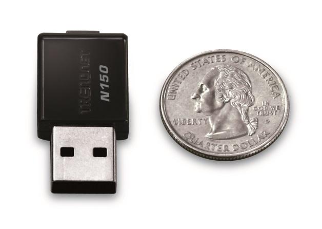 کارت شبکه USB ترندنت Trendnet TEW-648UB N150یکی دیگر از محصولات کمپانی ترندنت با ابعاد بسیار کوچک است و قابلیت کارکرد در فرکانس 2.4 GHZ را دارا می باشد . محصول فوق توانایی تبادل اطلاعات با سرعت 150Mbps
