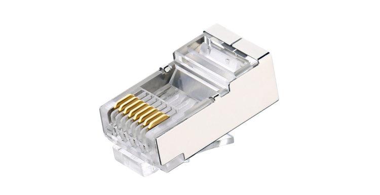 کانکتور CAT6 شیلد کی نت Cat6 STP Connector RJ45 از محصولات کی نت می باشد که برای کابلهای SFTP طراحی و تولید شده است .کابل های SFTP به دلیل داشتن فوبل و شیلد نسبت به کابل های UTP از قطر بیشتری برخوردارند. برای پیکربندی یک شبکه ی استاندارد می بایست کانکتوری مناسب برای این کابل ها انتخاب شود .