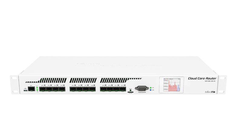 کر روتر میکروتیک +Mikrotik CCR1016-12S-1S جزو معدود محصولاتی از میکروتیک است که فقط دارای پورت SFP می باشد . قدرت پردازش ، میزان حافظه مکفی ، مشخصات سخت افزاری فوق العاده امکان اتصال همزمان 12 پورت SFP را به شما می دهد . در پروژه هایی که ارتباطات و تنظیمات مسیریاب نیاز به یک روتر مادر دارد قطعا+CCR1016-12S-1S گزینه ی برتر خواهد بود . با افزار نت همراه باشید برای شناخت بهتر این روتر .