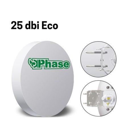 آنتن دیش 25Dbi فاز با ایزولاتور Phase 25dBi Ecoیکی از محصولات شرکت فاز می باشد که به جهت ارتباطات نقطه به نقطه در فواصل تا 20 کیلومتر طراحی شده است و تنها