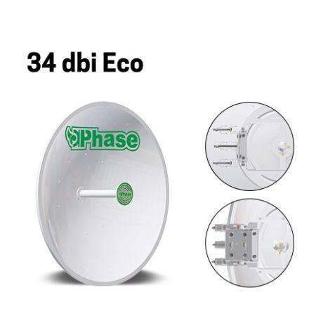 آنتن دیش 34Dbi فاز اکونومی Phase 34dBi Ecoیکی از محصولات نوآورانه ی شرکت فاز می باشد که به جهت ارتباطات نقطه به نقطه در فواصل دور طراحی شده است و تنها