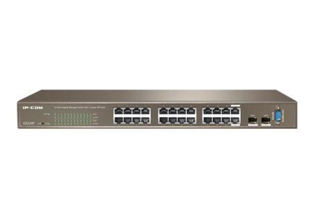 خرید و قیمت سوئیچ 24 پورت گیگ آی پی کام IP-COM G3224T