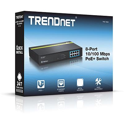 خرید سوئیچ 8 پورت POE ترندنت Trendnet TPE-T80H