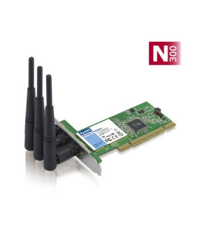 کارت شبکه PCI زایکسل Zyxel NWD310N N300یکی دیگر از محصولات کمپانی زایکسل است که به صورت PCI طراحی شده و بر روی اسلات های مادر برد قرار می گیرد .